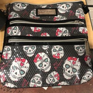 Betsey Johnson skull crossbody